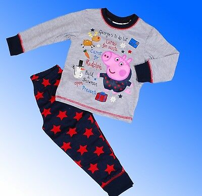 Boys Authentic Official Peppa Pig George Pyjamas Age 18 Months - 5 Years