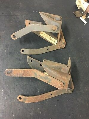 Nos 1949 1950 49 50 Ford Car Hood Support Hinges Arms Brackets Braces