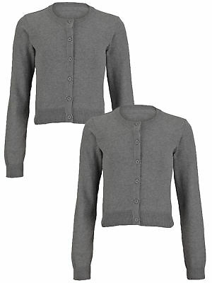 Top Class Girls 2 Pack Essential School Cardigans