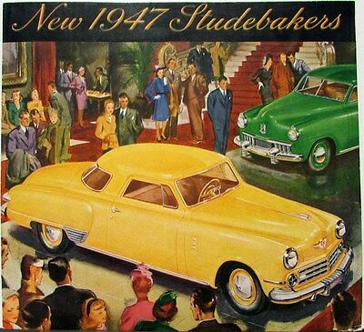1947 Studebaker Champion & Commander Models Color Sales Brochure Folder Original