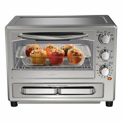 Oster Convection Oven With Pizza Drawer Silver