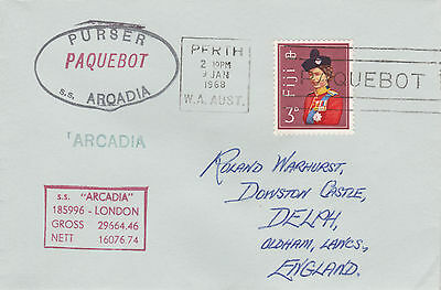 Fiji 4513 - Used in PERTH, W AUSTRALIA 1968 PAQUEBOT cover to UK