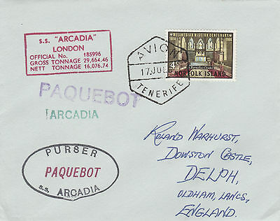 Norfolk Island 4529 - Used in TENERIFE 1967 PAQUEBOT cover to UK