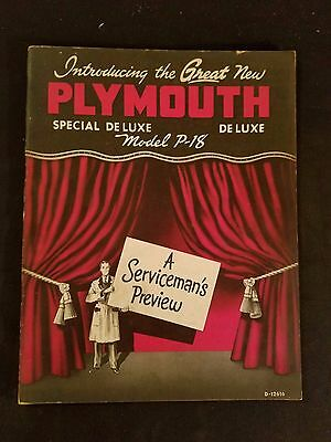 """Plymouth 1949"" A Serviceman's Preview Introducing the Great New Plymouth Illus"