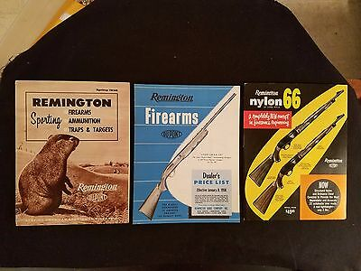 """""""Remington Sporting Firearms"""" Catalog & Dealer Price List More 1958 Illustrated"""