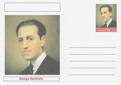 CINDERELLA - 4539 - George GERSHWIN on Fantasy Postal Stationery card
