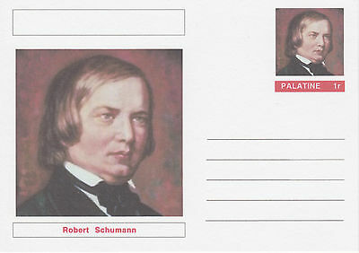 CINDERELLA - 4540 - Robert SCHUMANN on Fantasy Postal Stationery card