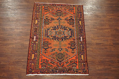 Antique 4X7 Persian Sarab Hand-Knotted Wool Oriental Area Rug Carpet (4.4 x 6.9)