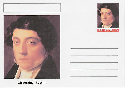 CINDERELLA - 4559 - Gioacchino ROSSINI  on Fantasy Postal Stationery card