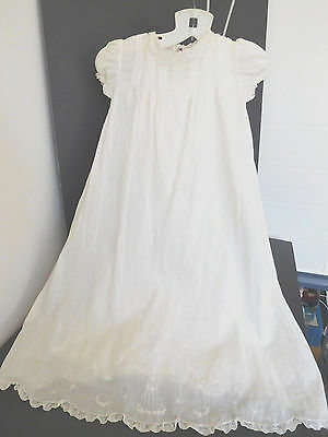 Vintage Bloomingdale's White Baby Christening Gown & Full Matching Slip