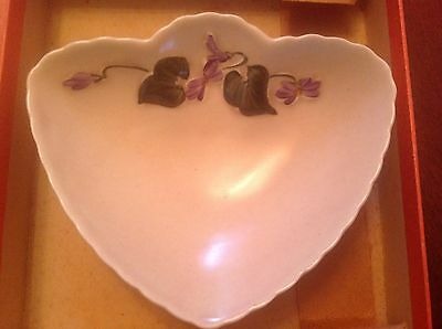 Vintage Crown Devon Violet Candy Dish~Orig Box~Jelly Bowl~Made England~EXC GIFT!
