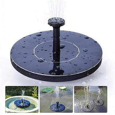 Solar Panel Water Feature Floating Pump Fountains Pool Pond Garden Bird Bath S%