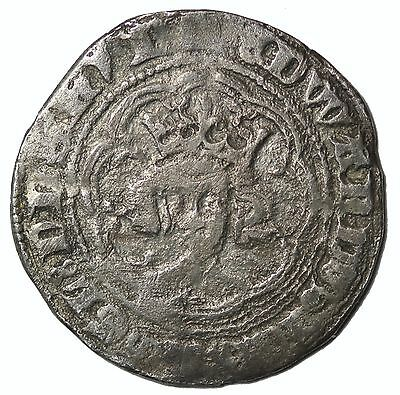 Medieval Edward III 1327-1377 AD London Mint England AR Silver Half Groat
