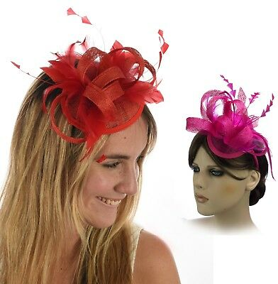 Spring Racing Race Party Melbourne Cup Feather Headband Clip Hairband Fascinator