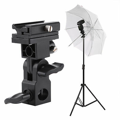 180°Flash Hot Shoe Umbrella Holder Swivel Bracket Mount Light Stand Type B DSLR
