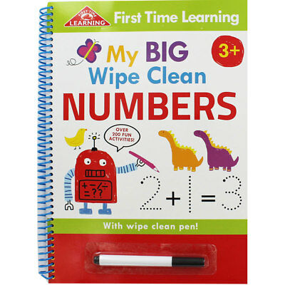 My Big Wipe Clean Numbers by Jason Shortland (Paperback), Children's Books, New