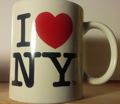 I Love NY Mug - White Ceramic 11 ounce I Heart NY Mugs New York City Souvenir
