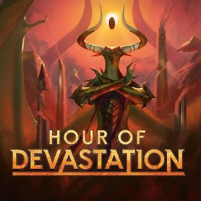 Hour of Devastation Complete Set with Mythic Token x4 magic the gathering MTG