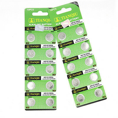 10Pcs AG10 G10A SR1130 LR1130 390A D189 LR54 Alkaline Button Cell Coin Battery