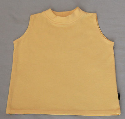 Hopscotch Yellow Sleeveless Cotton Top - Size 0