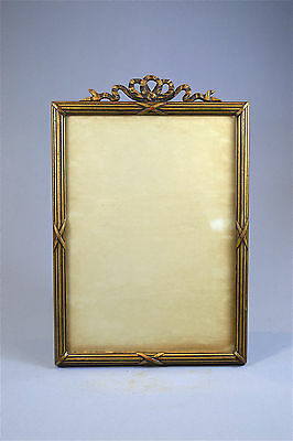 Original antique carved gilded wooden photo frame free standing photograph frame