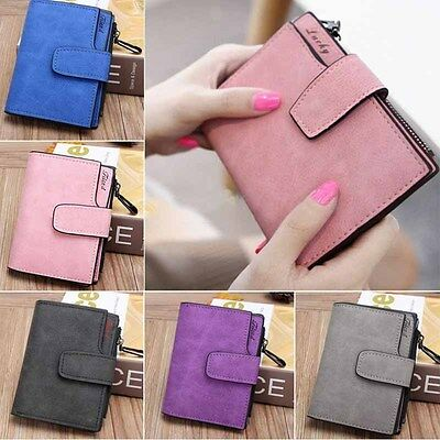 US stock Women Leather Small Mini Wallet Card Holder Coin Purse Clutch Handbag