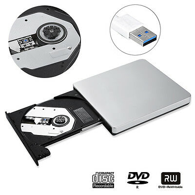 USB 3.0 Externes CD/DVD-RW Brenner Writer Laufwerk für Apple Macbook Pro Air