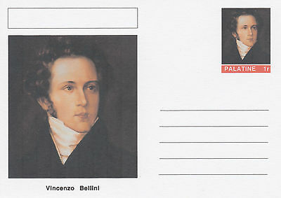 CINDERELLA - 4564 - Vincenzo BELLINI  on Fantasy Postal Stationery card