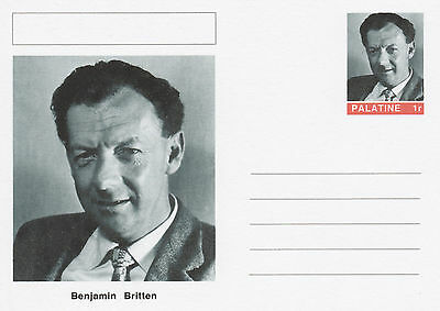 CINDERELLA - 4567 - Benjamin BRITTEN on Fantasy Postal Stationery card