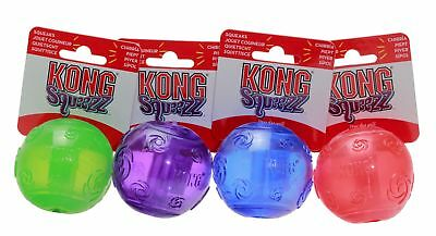 Kong Squeezz Squeaky Dog Puppy Tennis Ball Fetch Toy Medium Large Xl