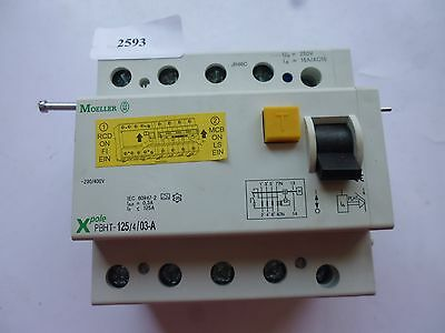 PBHT-125/4/03-A Moeller Residual-current circuit breaker trip block for PLHT125A