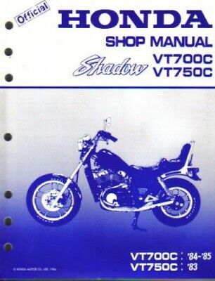 1983 1985 honda vt700c 750c shadow workshop repair manual