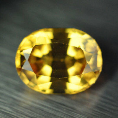 2.25ct.RAVISHING YELLOW SAPPHIRE OVAL LOOSE GEMSTONE