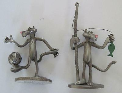 Two 1981 UAC Pewter Panther Spoontiques Figures