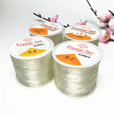 100M/Roll Crystal Bracelet String Stretchy Beading Jewelry Strong Elastic Thread