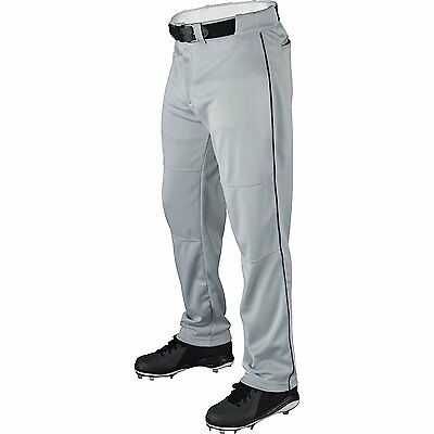 Wilson Pro T3 Black Piped Large Relaxed Fit Youth Baseball Pants GRAY/GREY P300