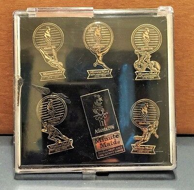 1996 Atlanta Olympic 5Oth Anniversary Minute Maid Coca Cola Complete Pin Set