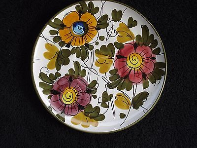 """Hand Painted Floral Plate/Saucer Italy Numbered 7 1/2"""""""
