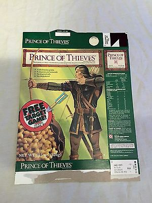 VINTAGE 1991 Ralston ROBIN HOOD PRINCE OF THIEVES Cereal Box w/ Target Game Back