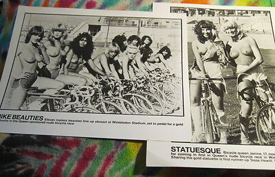 "Queen - Bike Beauties - 2 Promo 8 X 10"" Photo's From Bicycle Race - K @@ L"