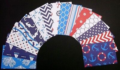 "*NAUTICAL*  15 Fantastic Scrapbooking/Cardmaking Papers - 15cm X 10cm  (6"" x 4"")"