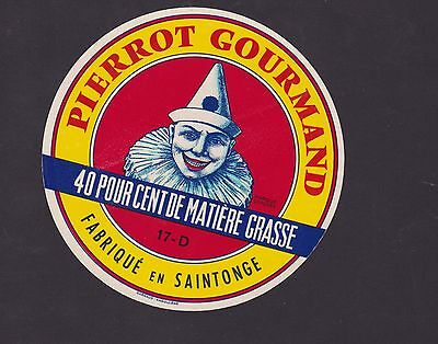 Ancienne étiquette fromage France BN21727 Pierrot gourmand