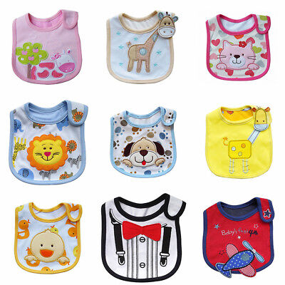 Unisex Kid Baby Bibs Waterproof Back Saliva Towel Burp Cloth Feeding Bandana New