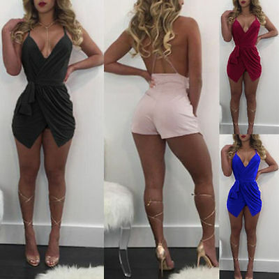 UK Sexy-Womens-Sleeveless-Bandage-Bodycon-Evening-Party-Cocktail-Club-Mini-Dress