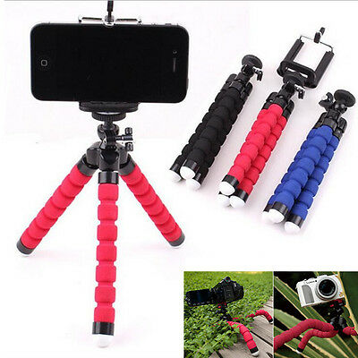 Octopus Tripod Flexible Mini Stand Sponge For Huawei Samsung iPhone DV Camera