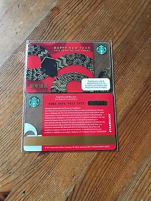 Malaysia Starbucks Happy New Year 2013 Year Of The Snake Card
