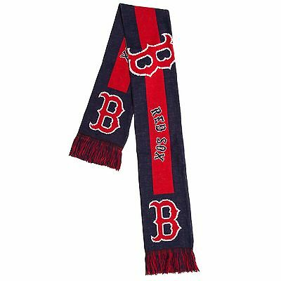Boston Red Sox Scarf Knit Winter Neck - Double Sided Big Team Logo New 2016