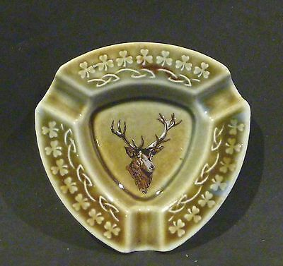 WADE Irish Porcelain STAG  ASHTRAY , GREEN,BROWN, BLUE