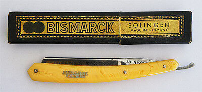 SOLINGEN 49 BISMARCK Alte Rasiermesser VINTAGE RAZOR IN CASE MADE IN GERMANY