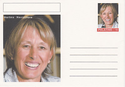 CINDERELLA 4594 - MARTINA NAVRATILOVA (tennis) on fantasy Postal Stationery card